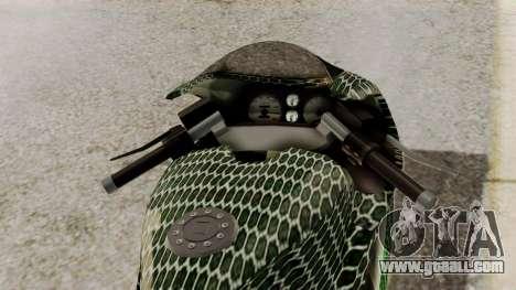 Bati Motorcycle Razer Gaming Edition for GTA San Andreas back view
