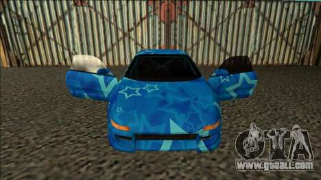 Toyota MR2 Drift Blue Star for GTA San Andreas inner view