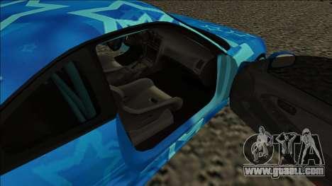 Toyota MR2 Drift Blue Star for GTA San Andreas back left view