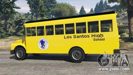 GTA 5 Classic school bus rear right side view