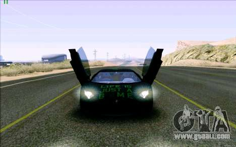Lamborghini Aventador LP-700 Razer Gaming for GTA San Andreas inner view