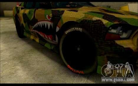 Bravado Buffalo Camo Shark Mouth for GTA San Andreas right view