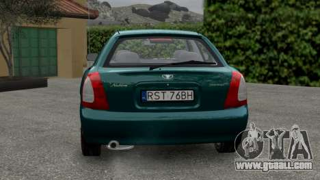 Daewoo Nubira I Hatchback CDX 1997 for GTA 4 right view