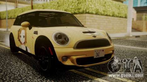 Mini Cooper Clubman 2011 K-ON Ritsu Itasha for GTA San Andreas