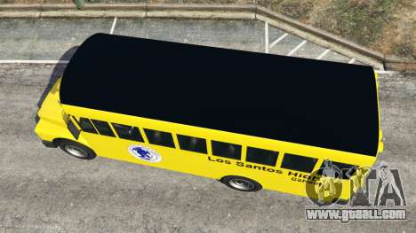 GTA 5 Classic school bus back view