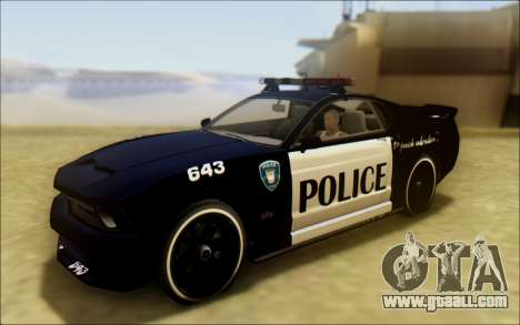 Vapid Dominator Transformers Police Car for GTA San Andreas