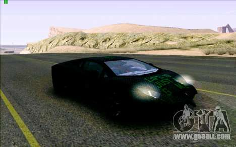 Lamborghini Aventador LP-700 Razer Gaming for GTA San Andreas back view