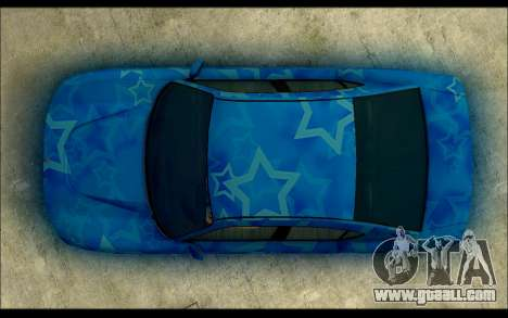 Bravado Buffalo Blue Star for GTA San Andreas right view