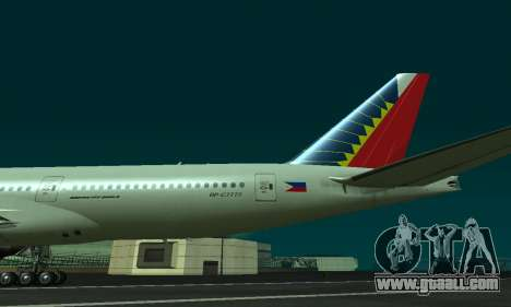 Boeing 777-200LR Philippine Airlines for GTA San Andreas right view