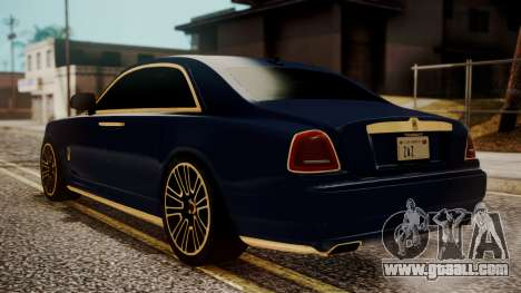 Rolls-Royce Ghost Mansory v2 for GTA San Andreas left view