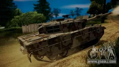 GTA 5 Rhino Tank for GTA San Andreas back left view