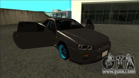 Nissan Skyline R34 Drift Monster Energy for GTA San Andreas side view