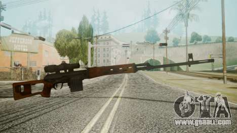 SVD Battlefield 3 for GTA San Andreas