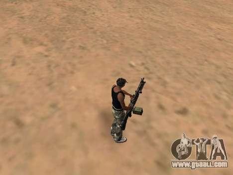 M249 for GTA San Andreas second screenshot
