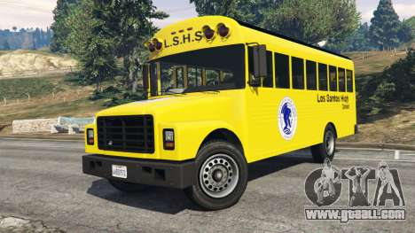 GTA 5 Classic school bus right side view