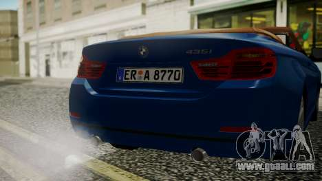 BMW M4 F32 Convertible 2014 for GTA San Andreas side view