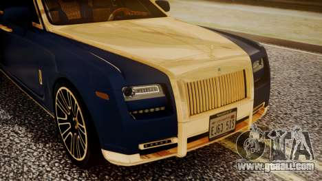 Rolls-Royce Ghost Mansory v2 for GTA San Andreas back view