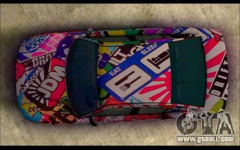 Bravado Buffalo Sticker Bom for GTA San Andreas right view