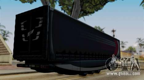 Aero Dynamic Trailer Stock for GTA San Andreas left view