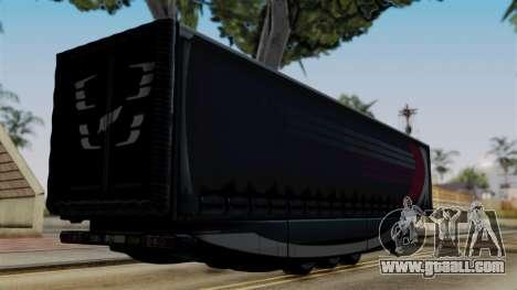 Aero Dynamic Trailer Stock for GTA San Andreas left view