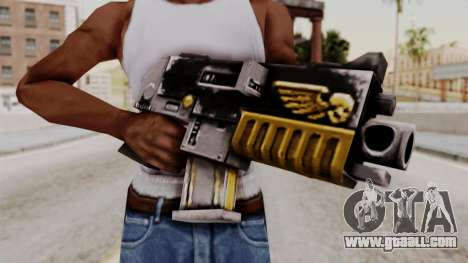 A bolter from Warhammer 40k for GTA San Andreas third screenshot
