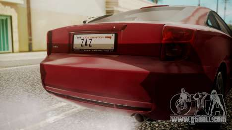 Toyota Celica SS2 Tunable for GTA San Andreas back view