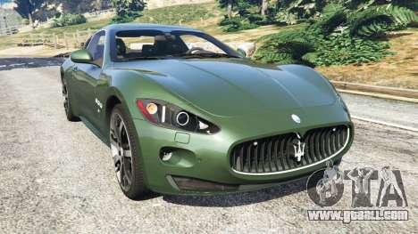 Maserati GranTurismo S 2010 for GTA 5