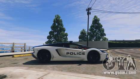GTA 5 Lamborghini Aventador Police left side view