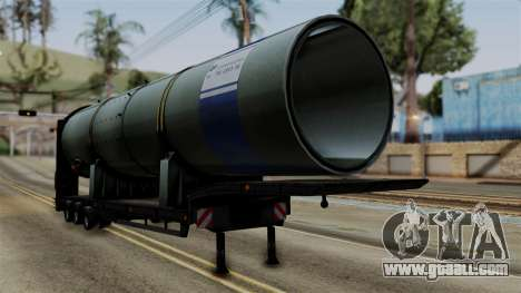 Overweight Trailer Black for GTA San Andreas