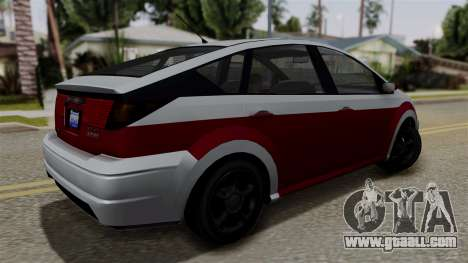 Deckers Solar (Dilettante) from SR3 for GTA San Andreas left view