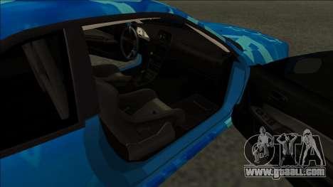 Nissan Skyline R34 Drift Blue Star for GTA San Andreas back left view