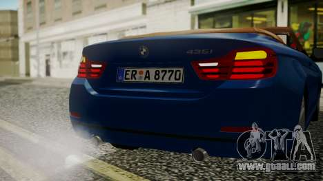 BMW M4 F32 Convertible 2014 for GTA San Andreas upper view
