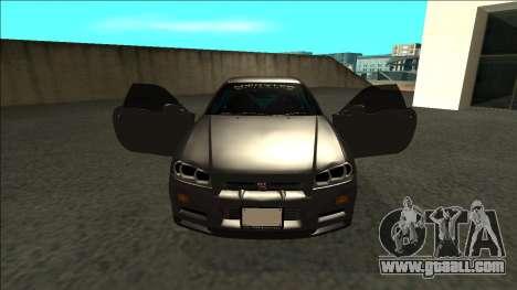 Nissan Skyline R34 Drift Monster Energy for GTA San Andreas inner view