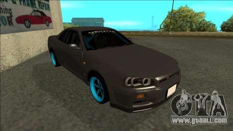 Nissan Skyline R34 Drift Monster Energy for GTA San Andreas left view