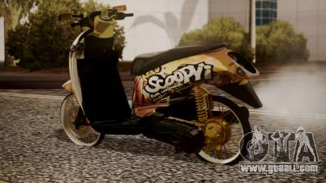 Honda Scoopy New Pink for GTA San Andreas left view