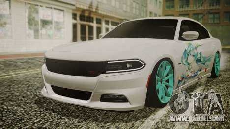 Dodge Charger RT 2015 Hatsune Miku for GTA San Andreas inner view