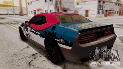 Dodge Challenger SRT Hellcat 2015 IVF for GTA San Andreas engine