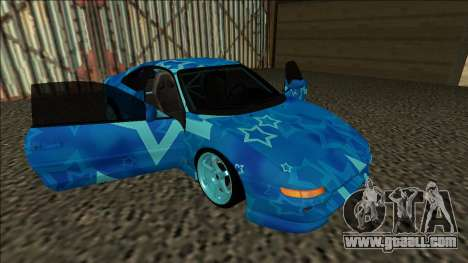 Toyota MR2 Drift Blue Star for GTA San Andreas side view