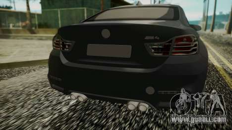 BMW M4 Coupe 2015 Carbon for GTA San Andreas back view