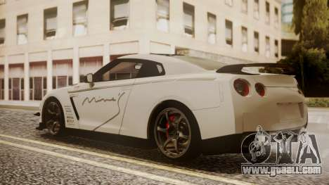 Nissan GT-R R35 2012 v2 for GTA San Andreas left view