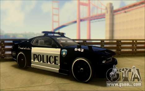 Vapid Dominator Transformers Police Car for GTA San Andreas right view