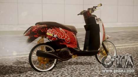 Honda Scoopy New Red for GTA San Andreas left view