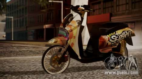 Honda Scoopy New Pink for GTA San Andreas