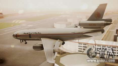 DC-10-10 National Airlines for GTA San Andreas left view