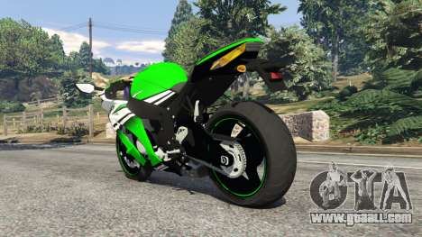 GTA 5 Kawasaki Ninja ZX-10R 2015 rear left side view