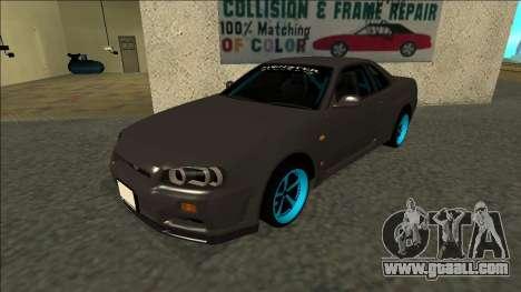 Nissan Skyline R34 Drift Monster Energy for GTA San Andreas