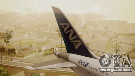 Boeing 787-9 ANA R2D2 for GTA San Andreas back left view