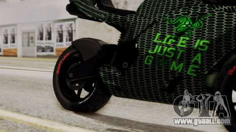 Bati Motorcycle Razer Gaming Edition for GTA San Andreas right view