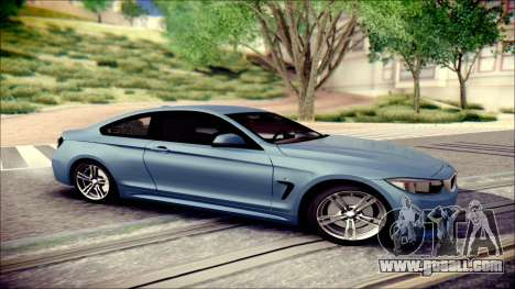 BMW 4 Series Coupe M Sport for GTA San Andreas left view