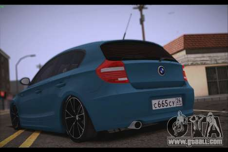 BMW 118i for GTA San Andreas back left view